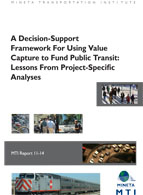 A Decision-Support Framework For Using Value Capture to Fund Public Transit: Lessons From Project-Specific Analyses