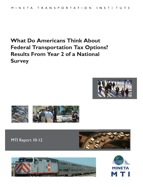 What Do Americans Think About Federal Transportation Tax Options? Results From Year 2 of a National Survey