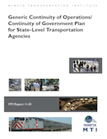 Generic Continuity of Operations/Continuity of Government Plan for State-Level Transportation Agencies