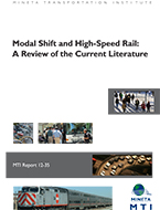 Modal Shift and High-Speed Rail: A Review of the Current Literature