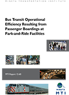 Bus Transit Operational Efficiency Resulting from Passenger Boardings at Park-and-Ride Facilities
