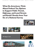 What Do Americans Think About Federal Tax Options to Support Public Transit, Highways, and Local Streets and Roads? Results from Year Six of a National Survey