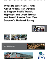 What Do Americans Think About Federal Tax Options to Support Public Transit, Highways, and Local Streets and Roads? Results from Year Seven of a National Survey