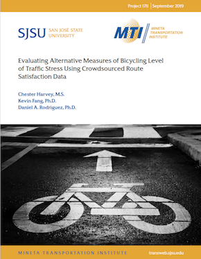 Evaluating Alternative Measures of Bicycling Level of Traffic Stress Using Crowdsourced Route Satisfaction Data
