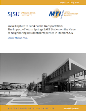 Value Capture to Fund Public Transportation: The Impact of Warm Springs BART Station on the Value of Neighboring Residential Properties in Fremont, CA