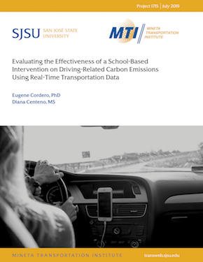 Evaluating the Effectiveness of a School-Based Intervention on Driving-Related Carbon Emissions Using Real-Time Transportation Data