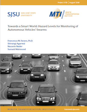 Towards a Smart World: Hazard Levels for Monitoring of Autonomous Vehicles' Swarms