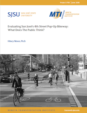 Evaluating San José's 4th Street Pop-up Bikeway: What Does the Public Think?