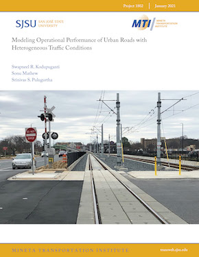 Modeling Operational Performance of Urban Roads with Heterogeneous Traffic Conditions