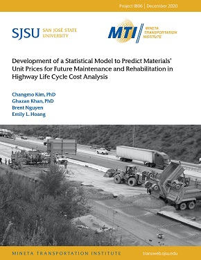 Development of a Statistical Model to Predict Materials' Unit Prices for Future Maintenance and Rehabilitation in Highway Life Cycle Cost Analysis
