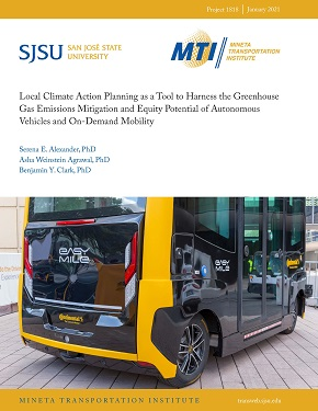 Local Climate Action Planning as a Tool to Harness the Greenhouse Gas Emissions Mitigation and Equity Potential of Autonomous Vehicles and On-Demand Mobility