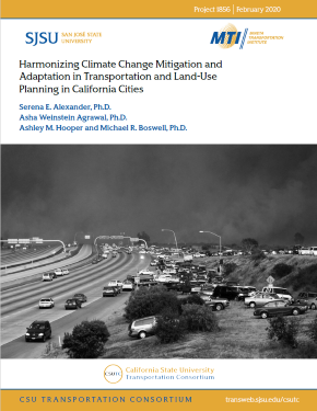 Harmonizing Climate Change Mitigation and Adaptation in Transportation and Land-Use Planning in California Cities