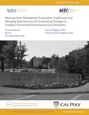 Moving from Walkability? Evaluation Traditional and Merging Data Sources for Evaluating Changes in Campus-Generated Greenhouse Gas Emissions