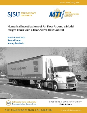 Numerical Investigations of Air Flow Around a Model Freight Truck with a Rear Active Flow Control