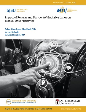 Impact of Regular and Narrow AV-Exclusive Lanes on Manual Driver Behavior