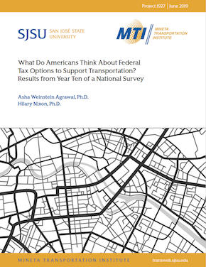 What Do Americans Think About Federal Tax Options to Support Transportation? Results from Year Ten of a National Survey