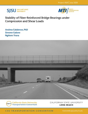 Stability of Fiber-Reinforced Bridge Bearings under Compression and Shear Loads