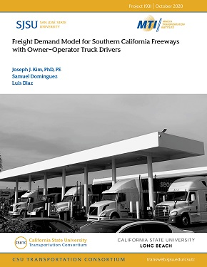 Freight Demand Model for Southern California Freeways with Owner–Operator Truck Drivers