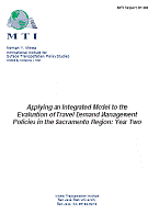 Applying an Integrated Urban Model in the Evaluation of Travel Demand Management Policies in the Sacramento Region: Year Two