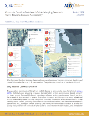Commute Duration Dashboard Guide: Mapping Commute Travel Times to Evaluate Accessibility