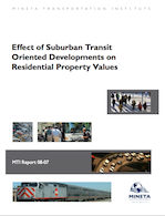 Effect of Suburban Transit Oriented Developments on Residential Property Values