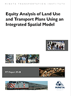 Equity Analysis of Land Use and Transport Plans Using an Integrated Spatial Model