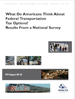 What Do Americans Think About Federal Transportation Tax Options? Results From a National Survey