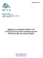 Applying an Integrated Model to the Evaluation of Travel Demand Management Policies in the Sacramento Region