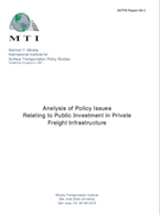 Analysis of Policy Issues Relating to Public Investment in Private Freight Infrastructure