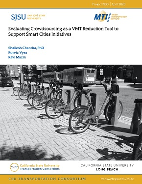 Evaluating Crowdsourcing as a VMT Reduction Tool to Support Smart Cities Initiatives