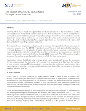 The Impact of COVID-19 on California Transportation Revenue