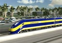 Artist rendering of proposed California high-speed rail engine