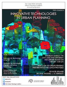 UPC Symposium Flyer Innovative Technologies in Urban Planning